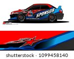 rally car vector livery.... | Shutterstock .eps vector #1099458140