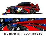 rally car vector livery.... | Shutterstock .eps vector #1099458158