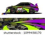 rally car vector livery.... | Shutterstock .eps vector #1099458170