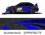 rally car vector livery.... | Shutterstock .eps vector #1099458179