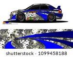 rally car vector livery.... | Shutterstock .eps vector #1099458188