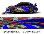 rally car vector livery.... | Shutterstock .eps vector #1099458194