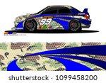 rally car vector livery.... | Shutterstock .eps vector #1099458200