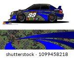 rally car vector livery.... | Shutterstock .eps vector #1099458218
