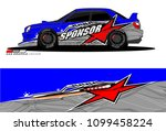 rally car vector livery.... | Shutterstock .eps vector #1099458224