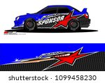 rally car vector livery.... | Shutterstock .eps vector #1099458230