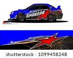 rally car vector livery.... | Shutterstock .eps vector #1099458248