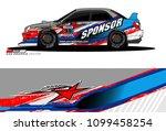 rally car vector livery.... | Shutterstock .eps vector #1099458254