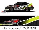 rally car vector livery.... | Shutterstock .eps vector #1099458260