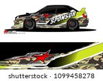 rally car vector livery.... | Shutterstock .eps vector #1099458278
