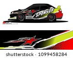 rally car vector livery.... | Shutterstock .eps vector #1099458284
