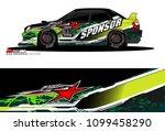 rally car vector livery.... | Shutterstock .eps vector #1099458290