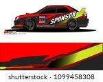 rally car vector livery.... | Shutterstock .eps vector #1099458308