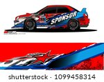 rally car vector livery.... | Shutterstock .eps vector #1099458314