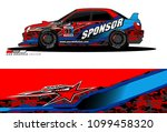rally car vector livery.... | Shutterstock .eps vector #1099458320