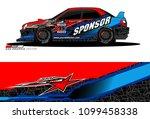 rally car vector livery.... | Shutterstock .eps vector #1099458338