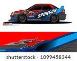 rally car vector livery.... | Shutterstock .eps vector #1099458344