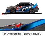 rally car vector livery.... | Shutterstock .eps vector #1099458350