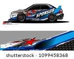 rally car vector livery.... | Shutterstock .eps vector #1099458368