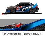 rally car vector livery.... | Shutterstock .eps vector #1099458374