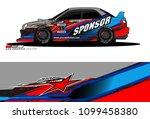 rally car vector livery.... | Shutterstock .eps vector #1099458380
