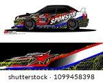 rally car vector livery.... | Shutterstock .eps vector #1099458398