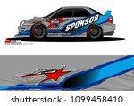 rally car vector livery.... | Shutterstock .eps vector #1099458410