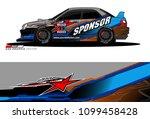 rally car vector livery.... | Shutterstock .eps vector #1099458428