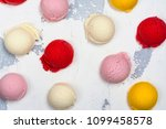 orange  vanilla  raspberry and... | Shutterstock . vector #1099458578