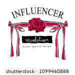 typography slogan with rose and ... | Shutterstock .eps vector #1099460888