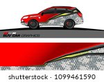 suv car graphics for vinyl wrap.... | Shutterstock .eps vector #1099461590