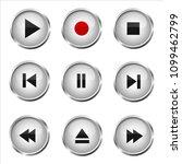 set of media buttons   Shutterstock .eps vector #1099462799