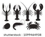 set of vector silhouettes... | Shutterstock .eps vector #1099464938