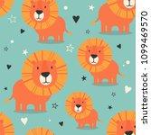 lions  hearts  stars  hand... | Shutterstock .eps vector #1099469570
