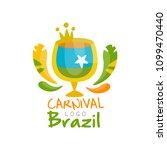 brazil carnival logo design ... | Shutterstock .eps vector #1099470440