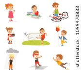 childrens failures and mistakes ... | Shutterstock .eps vector #1099470833