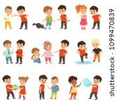 brave children characters... | Shutterstock .eps vector #1099470839