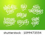 lettering set for natural... | Shutterstock .eps vector #1099473554