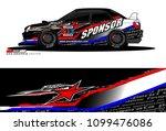 rally car vector livery....   Shutterstock .eps vector #1099476086