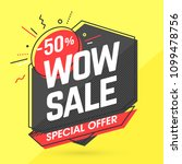 wow sale banner template in... | Shutterstock .eps vector #1099478756