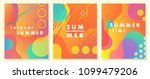 unique artistic summer cards... | Shutterstock .eps vector #1099479206