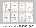 set of wedding cards with... | Shutterstock .eps vector #1099481183
