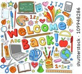 welcome back to school... | Shutterstock .eps vector #109948286