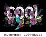 embroidery hummingbird  cool ... | Shutterstock .eps vector #1099483136