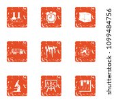 chemical substance icons set.... | Shutterstock .eps vector #1099484756