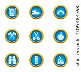 journey to the mystery icons... | Shutterstock .eps vector #1099484768