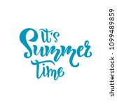 its summer time hand drawn... | Shutterstock .eps vector #1099489859