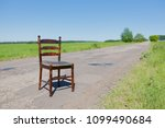 golden mahogany chair on the...   Shutterstock . vector #1099490684