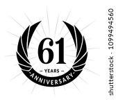 61 years anniversary. elegant... | Shutterstock .eps vector #1099494560