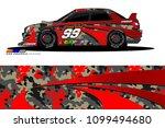 rally car vector livery.... | Shutterstock .eps vector #1099494680